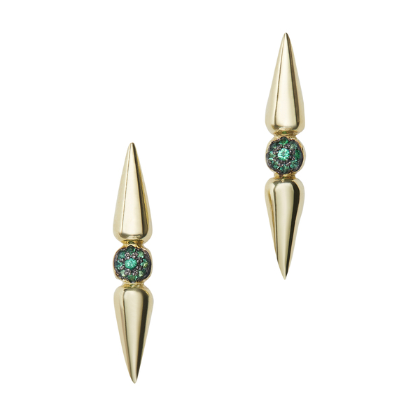 SARAH HENDLER Emerald Center Spear Studs