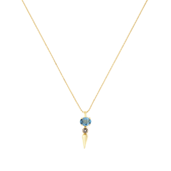 SARAH HENDLER Shirley Spear Tip Pendant Necklace