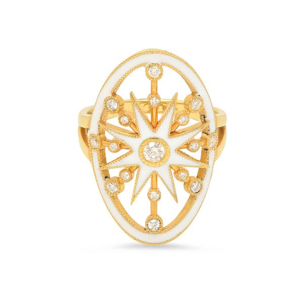 Colette Jewelry White Enamel Star Ring