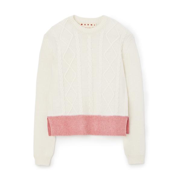 Marni Crewneck Cable Knit Sweater
