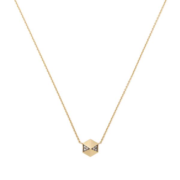 HARWELL GODFREY Pavé Diamond Hexagon Pendant