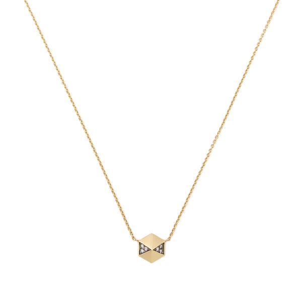 Harwell Godfrey Pavé Diamond Hexagon Pendant