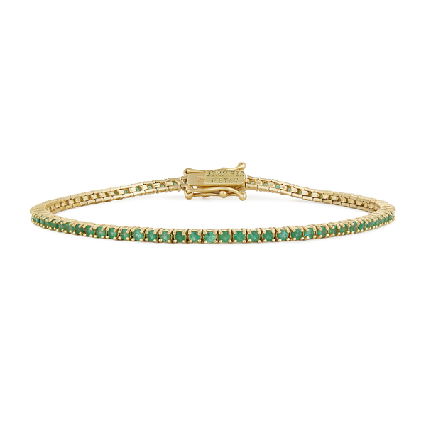 Jennifer Meyer Emerald 4-Prong Tennis Bracelet