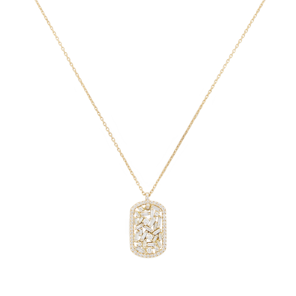 Suzanne Kalan Mini Dog Tag Necklace