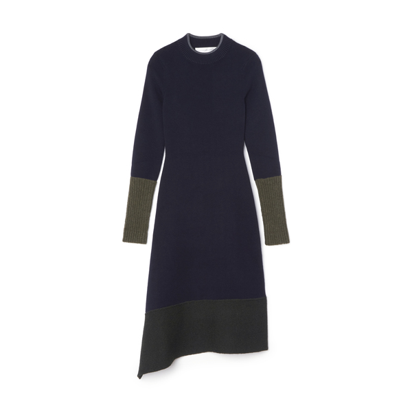 Victoria Beckham Chunky-trim Long Sleeve Dress