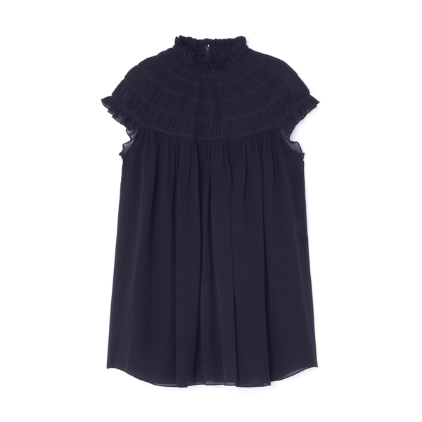 Chloé Smocked Silk Tunic