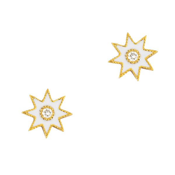 Colette Jewelry Enamel Star Studs