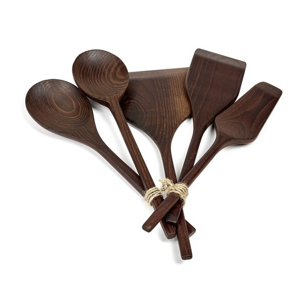 SERAX Pure Wood Kitchen Tool, Set of 5