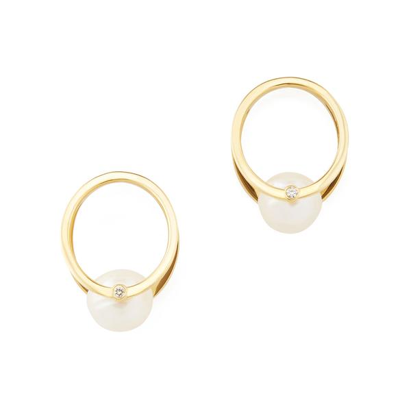 KATKIM Pearl Yellow-Gold Oasis Earrings