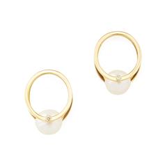 Pearl Yellow-Gold Oasis Earrings