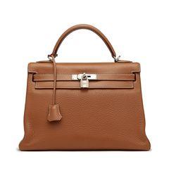 Hermès Brown Clemence Kelly Bag