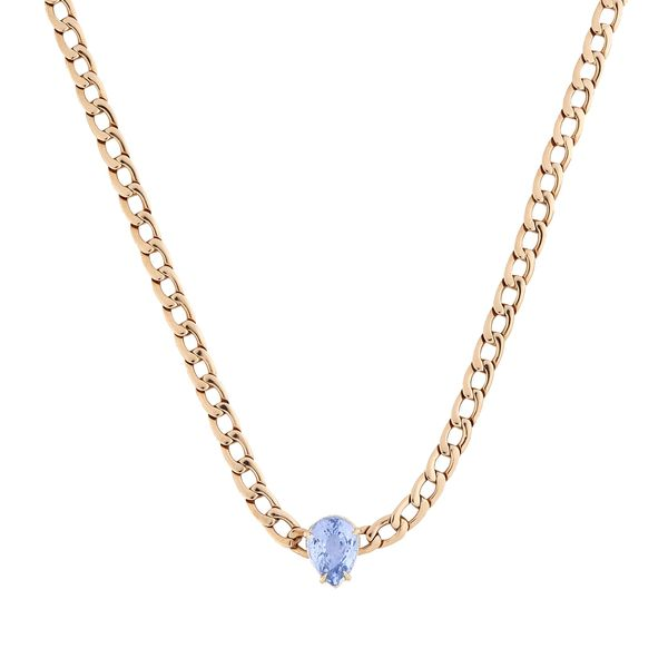 Anita Ko 18K Gold Chain Necklace with Sapphire
