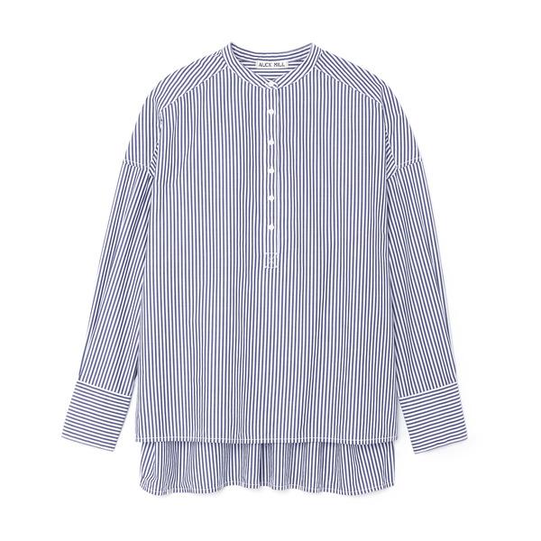 Alex Mill Gathered Back Oversized Stripe Shirt