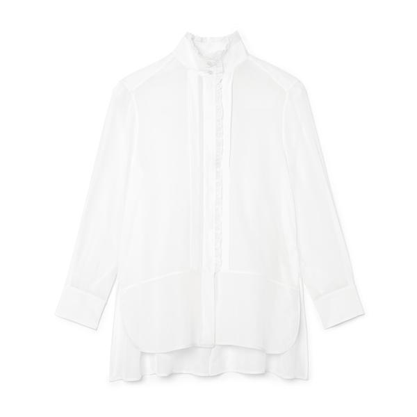 G. Label Litvack Pleated-Collar Button-Down