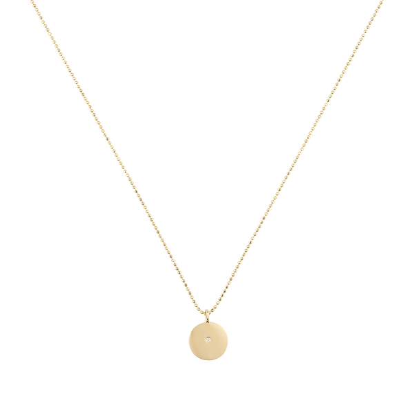 Ariel Gordon Small Circle Pendant Necklace