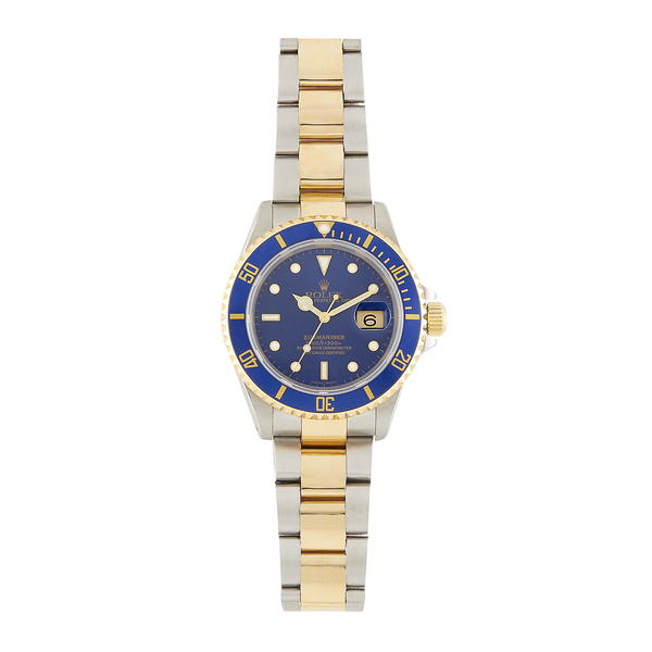 Bob's Watches Rolex Men's Submariner Two-Tone 40mm Model 16613 Blue Dial