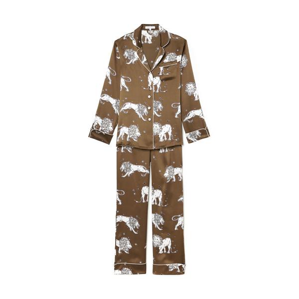 Olivia von Halle Lila Narcissa Silk Long-Sleeve Pajama Set