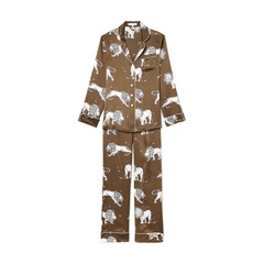 Lila Narcissa Silk Long-Sleeve Pajama Set
