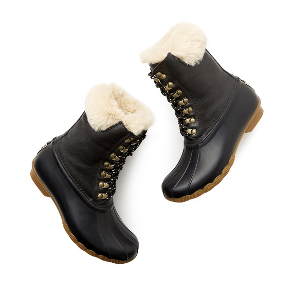 goop x Sperry Saltwater Tall Lace-Up Luxe Leather Duck Boot
