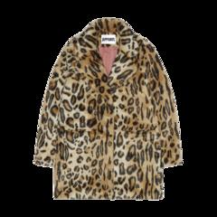 Margot Faux Fur Coat in Leopard