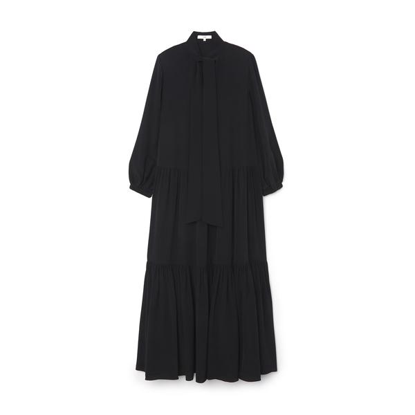 Tibi Tie-Neck Ruffle Dress