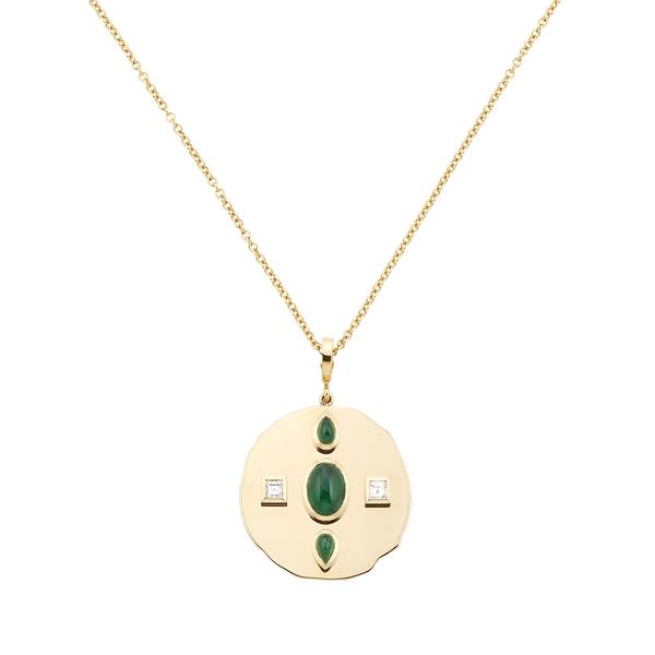 Azlee Modern Byzantine Coin Necklace