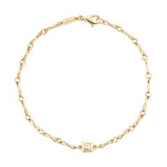 Small Link Bracelet with Diamond Carré