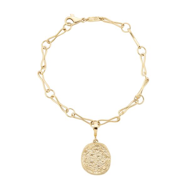Azlee Link Bracelet with Zodiac Coin Charm