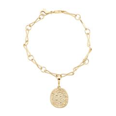 Link Bracelet with Zodiac Coin Charm