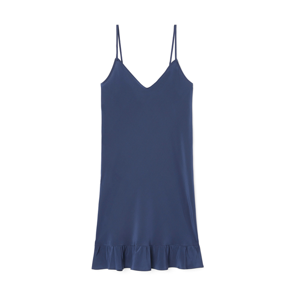 Pour Les Femmes Silk Ruffle Slip Dress