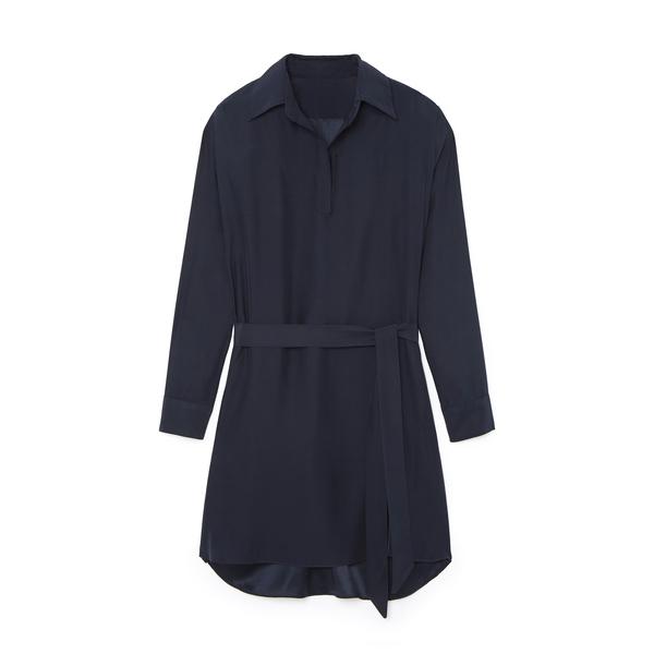Pour Les Femmes Silk Shirt Dress