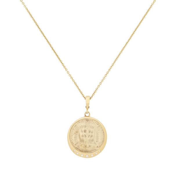 Azlee Lion Venetian Glass Coin Necklace