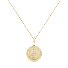 Lion Venetian Glass Coin Necklace