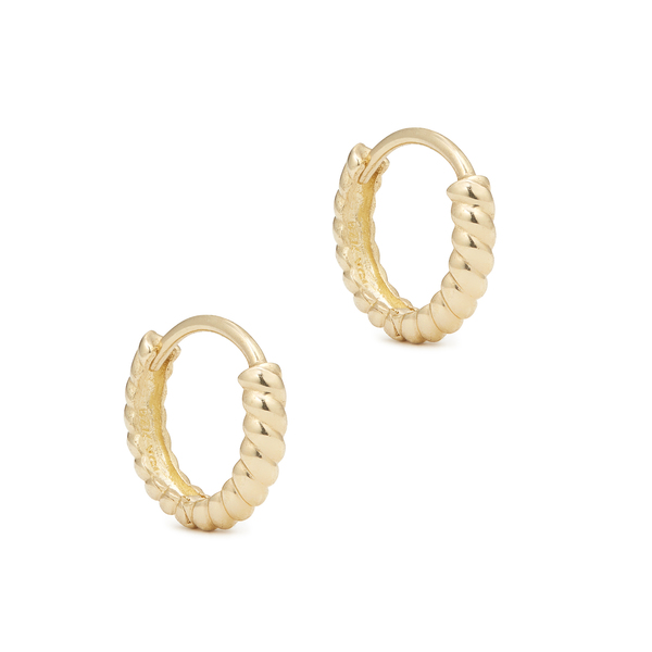 Ariel Gordon Twisted Petite Hoops