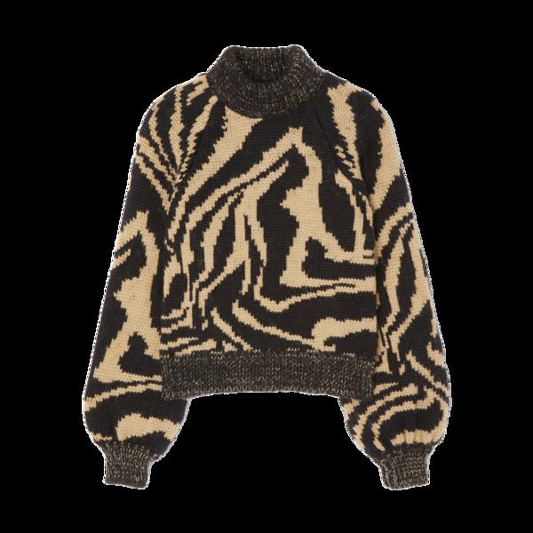 Ganni Hand-Knit Wool Sweater