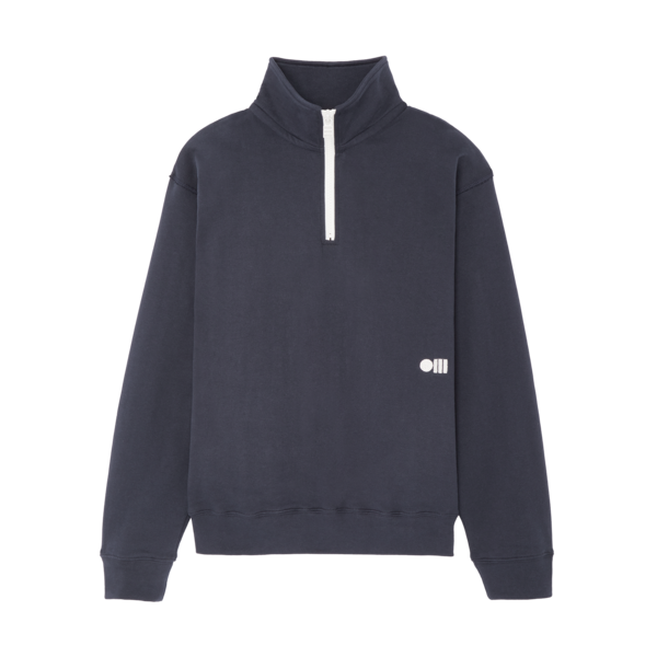 Solid & Striped Zip Pull Over