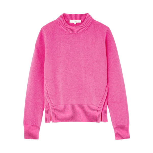 Tibi Cashmere Mini Crewneck Pullover