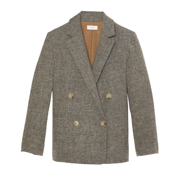 VINCE Pebble Texture Wool Jacket