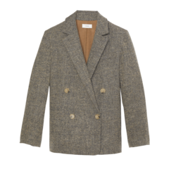 Pebble Texture Wool Jacket