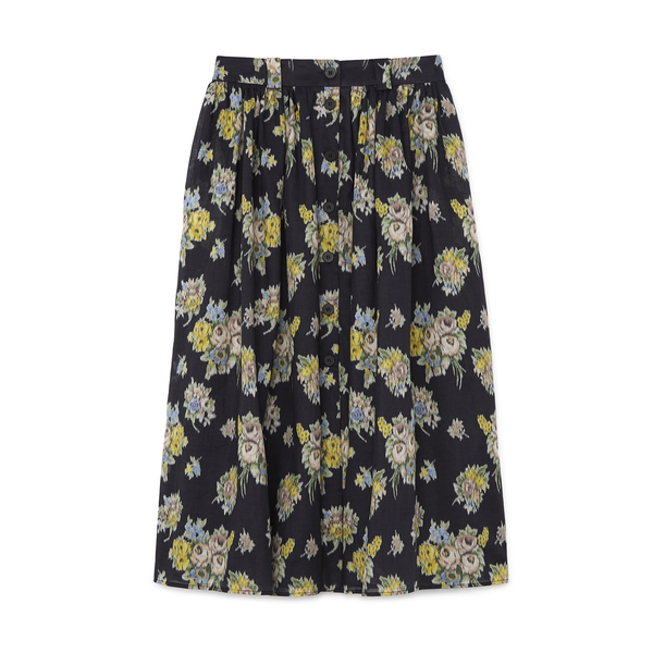 Brock Collection Printed Button Front Skirt