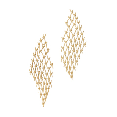 Large Net Earrings