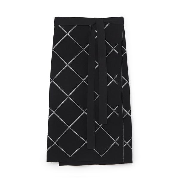 Proenza Schouler Windowpane Wrap-Knit Skirt
