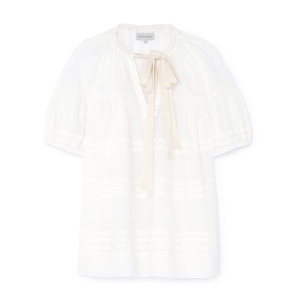 Lee Mathews Gigi Short-Sleeve Puff Top