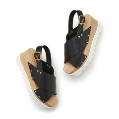 Percy Plastic Stacked Sandals