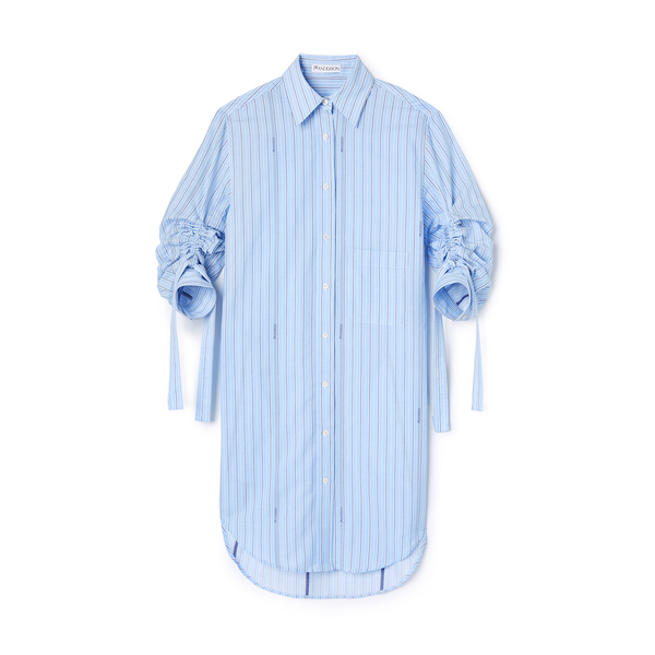 JW Anderson Gathered Sleeve Shirt Dress