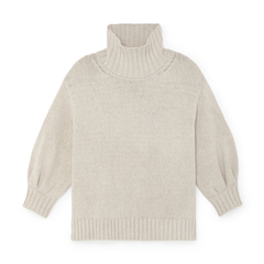 Evangelyn Puff-Sleeve Sweater