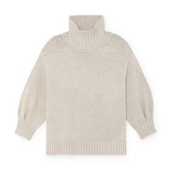 Evangelyn Puff-Sleeve Sweater