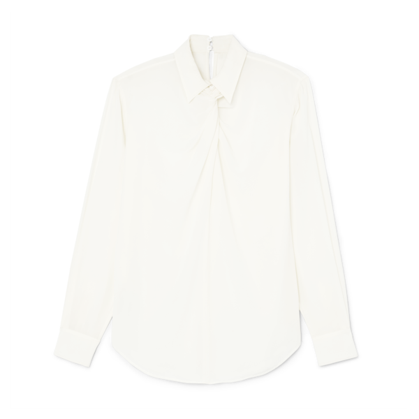 Victoria Beckham Twist-Neck Shirt
