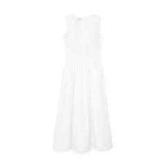 Sleeveless Trapunto-Hem Dress