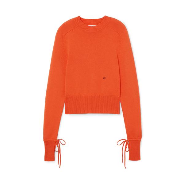 Victoria Beckham Cropped Crewneck Sweater